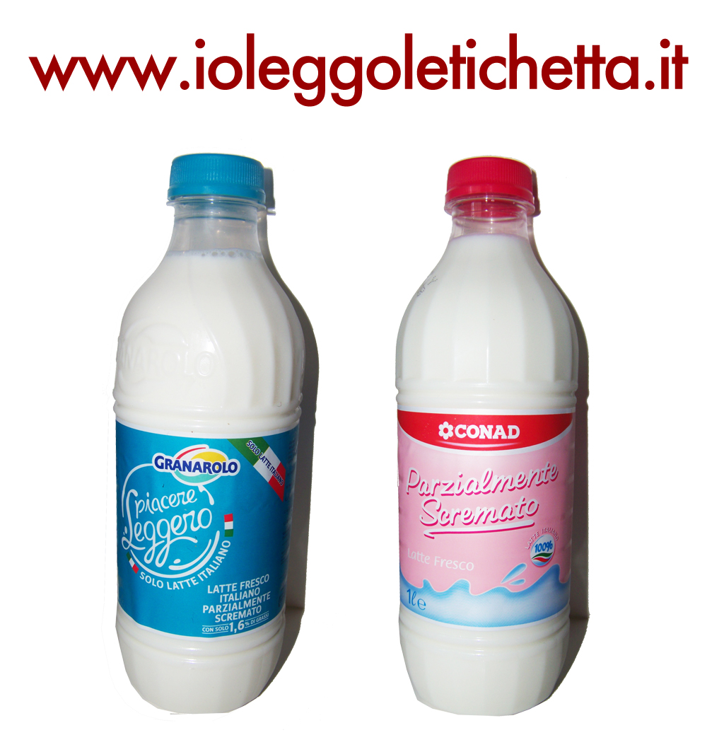 Latte fresco ps Granarolo e latte fresco ps Conad